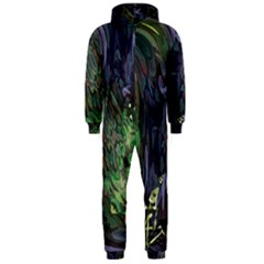 Backdrop Background Abstract Hooded Jumpsuit (men)