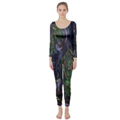 Backdrop Background Abstract Long Sleeve Catsuit