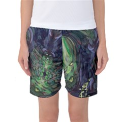 Backdrop Background Abstract Women s Basketball Shorts