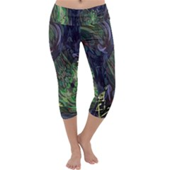 Backdrop Background Abstract Capri Yoga Leggings