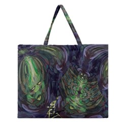 Backdrop Background Abstract Zipper Large Tote Bag