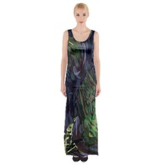 Backdrop Background Abstract Maxi Thigh Split Dress