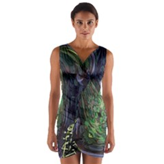 Backdrop Background Abstract Wrap Front Bodycon Dress