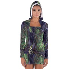 Backdrop Background Abstract Women s Long Sleeve Hooded T Shirt