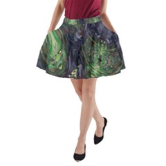 Backdrop Background Abstract A Line Pocket Skirt