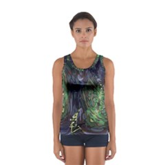 Backdrop Background Abstract Women s Sport Tank Top