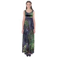 Backdrop Background Abstract Empire Waist Maxi Dress