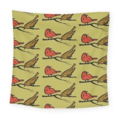Bird Birds Animal Nature Wild Wildlife Square Tapestry (large)