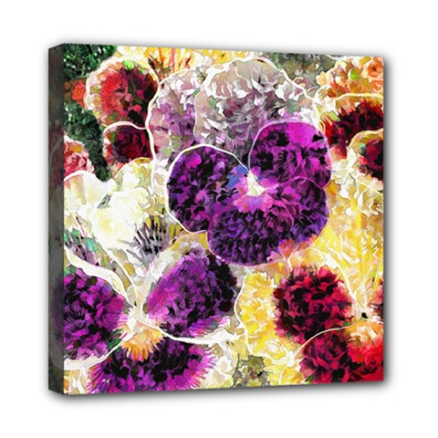 Background Flowers Mini Canvas 8  X 8