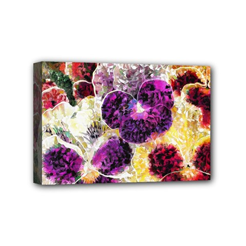 Background Flowers Mini Canvas 6  X 4