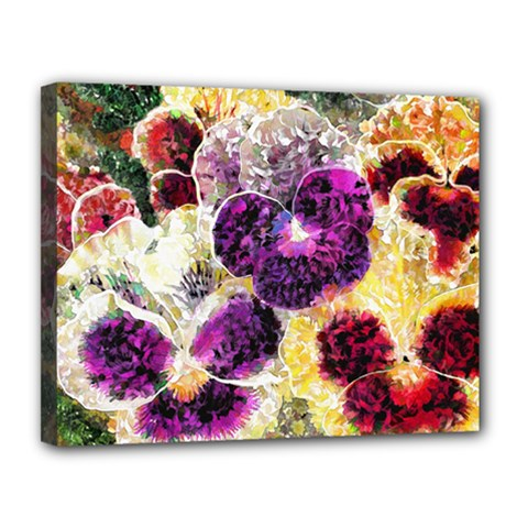 Background Flowers Canvas 14  X 11