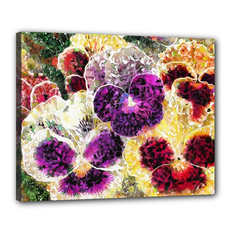 Background Flowers Canvas 20  X 16