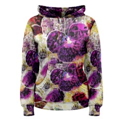 Background Flowers Women s Pullover Hoodie