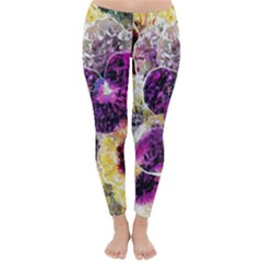 Background Flowers Classic Winter Leggings