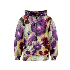 Background Flowers Kids  Zipper Hoodie