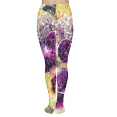 Background Flowers Women s Tights
