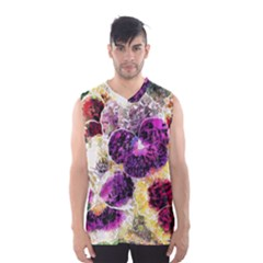 Background Flowers Men s Basketball Tank Top
