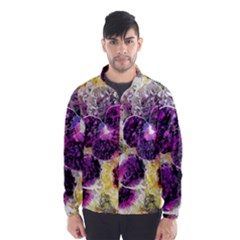 Background Flowers Wind Breaker (men)