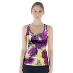 Background Flowers Racer Back Sports Top