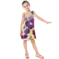 Background Flowers Kids  Sleeveless Dress