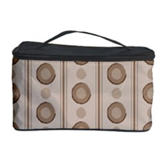 Background Rough Stripes Brown Tan Cosmetic Storage Case