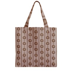 Background Rough Stripes Brown Tan Zipper Grocery Tote Bag