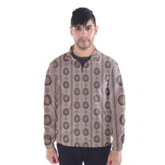 Background Rough Stripes Brown Tan Wind Breaker (men)
