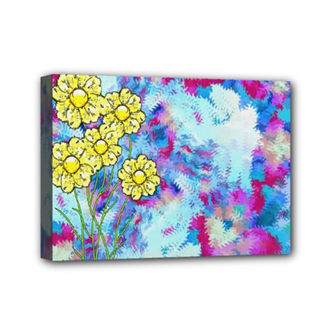 Backdrop Background Flowers Mini Canvas 7  X 5