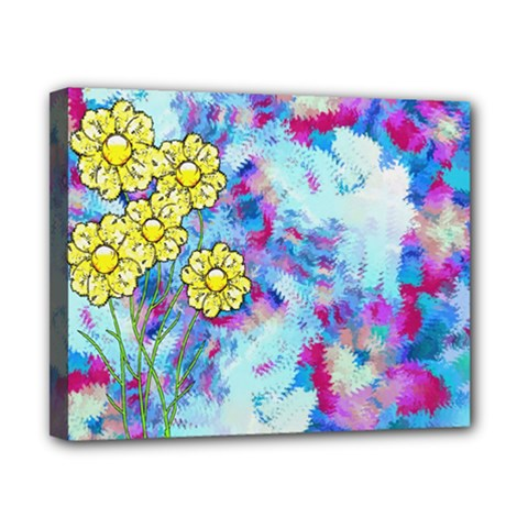 Backdrop Background Flowers Canvas 10  X 8