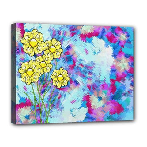 Backdrop Background Flowers Canvas 14  X 11