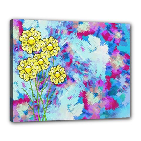 Backdrop Background Flowers Canvas 20  X 16