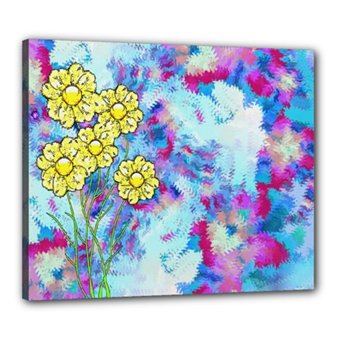 Backdrop Background Flowers Canvas 24  x 20