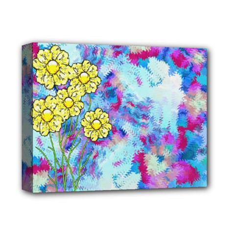 Backdrop Background Flowers Deluxe Canvas 14  X 11