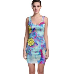 Backdrop Background Flowers Sleeveless Bodycon Dress