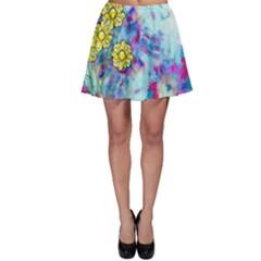 Backdrop Background Flowers Skater Skirt