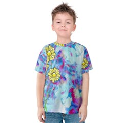Backdrop Background Flowers Kids  Cotton Tee