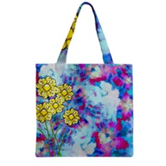 Backdrop Background Flowers Grocery Tote Bag