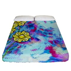Backdrop Background Flowers Fitted Sheet (queen Size)