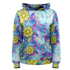 Backdrop Background Flowers Women s Pullover Hoodie