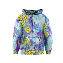 Backdrop Background Flowers Kids  Zipper Hoodie