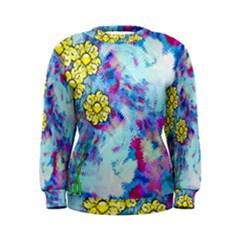 Backdrop Background Flowers Women s Sweatshirt