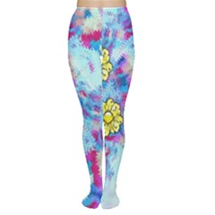 Backdrop Background Flowers Women s Tights