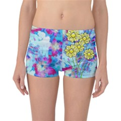 Backdrop Background Flowers Reversible Bikini Bottoms