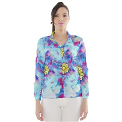 Backdrop Background Flowers Wind Breaker (women)