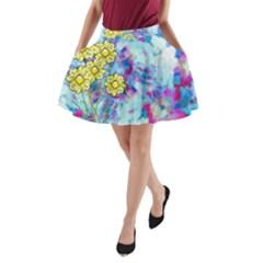 Backdrop Background Flowers A Line Pocket Skirt