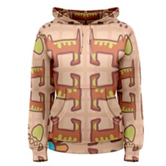 Dog Abstract Background Pattern Design Women s Pullover Hoodie
