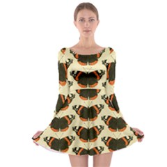 Butterfly Butterflies Insects Long Sleeve Skater Dress