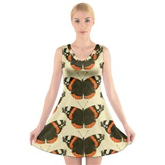 Butterfly Butterflies Insects V Neck Sleeveless Skater Dress