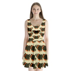 Butterfly Butterflies Insects Split Back Mini Dress