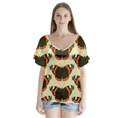 Butterfly Butterflies Insects Flutter Sleeve Top